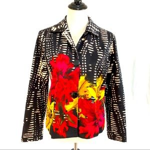 CHICO'S JACKET COLORFUL FLORAL